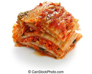 kimchi, korean food - homemade napa cabbage kimchi
