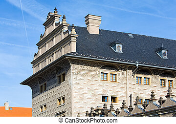 Schwarzenberg Palace fragment, Prague, Czech Republic -...