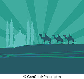 three wise men - Illustration of traditional Christian...