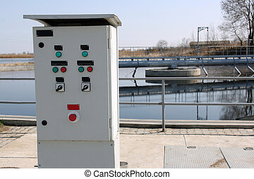 Water treatment - Control switch board near water treatment...