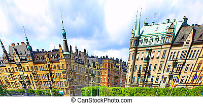 Abstract panorama of Stockholm