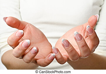 Female cupped hands