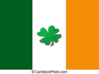 Irish flag shamrock.