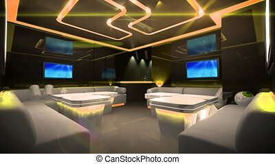 Cyber led light of Club Room