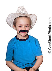 Happy cowboy kid.