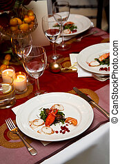 Plate of food during a wedding