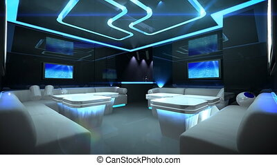 Cyber Club Room - Led light color changing for disco light...