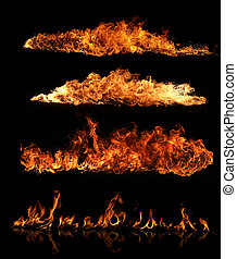 ogień, zbiór