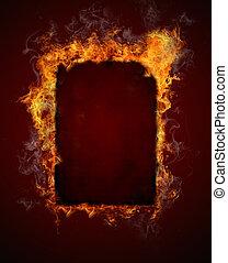 Fire frame - Burning fire frame