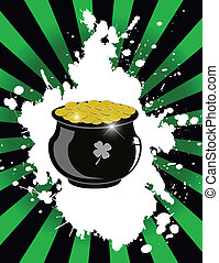 Pot of gold - Vector Illustration