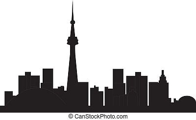 Toronto Skyline canada - toronto canadian skyline in black...