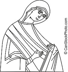 Vector illustration of Virgin Mary