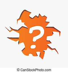 Abstract Illustration of Question Mark in hole