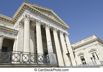 court of Nimes, France - court of Nimes, Gard, France