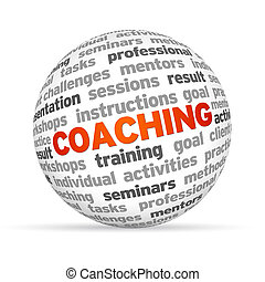 Coaching - 3d word Sphere with the word Coaching highlighted...