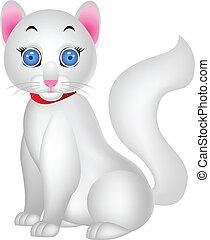 White cat - Vector illustration of white cat