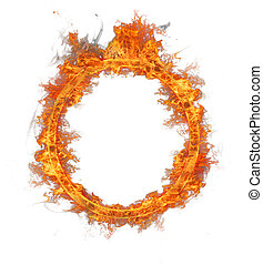 Fire ring, isolated on white background