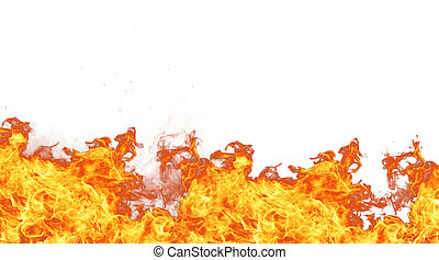 Fire wall - Fire isolated on white background