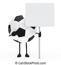 football figure hold billboard