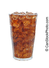 Glass of Cola and Ice - A cold frosty glass of soda filled...