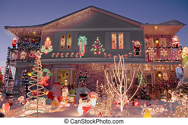 Chritmas house - A duplex home is decorated to the max for...