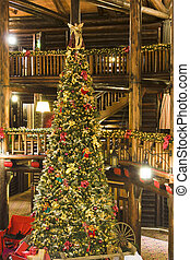 Lodge Xmas Tree - A 3-storey Christmas tree in Montebello...
