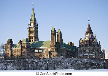 Morning Politics - The canadian Parliament Centre block and...