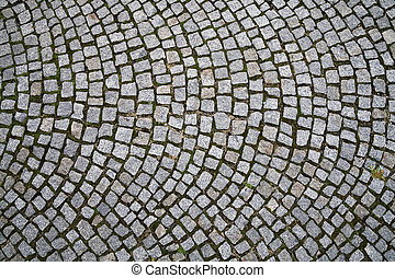 Cobblestone background pattern - Closeup view on a...