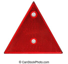 triangle reflector safety glass - red triangle reflector...
