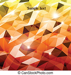 Abstract orange background. Combination of triangle. Vector
