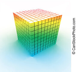 Colorful cubes. Vector