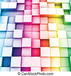 Colorful cubes Vector background - Colorful cubes Vector...