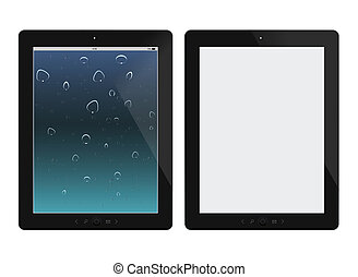 Two tablet pc on white background. Vector illustration