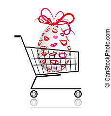 Easter egg  in shopping cart for your design