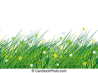 Green meadow, seamless pattern for your design