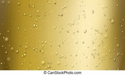 foucs on champagne bubbles air - the bubbles floating up in...