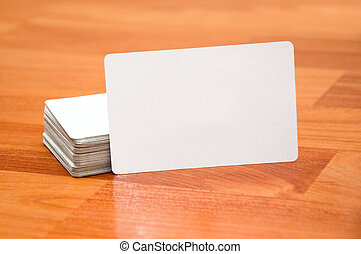 Business cards - Stack of business cards with rounded...