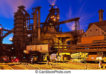 Metallurgical plant - Blast furnace equipment of the...