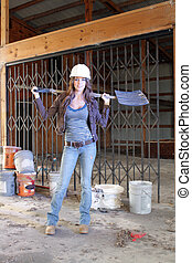 Beautiful Young Construction Worker (4) - A lovely young...