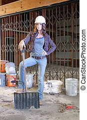 Beautiful Young Construction Worker (3) - A lovely young...