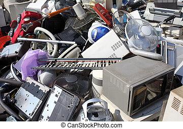 metal, plástico, reciclagem