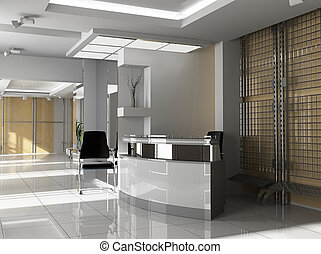 modern office - Hall of office in agoy 3d image
