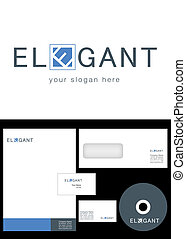 Elegant Logo Design and corporate identity package including...