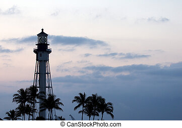 Lighthouse at Hillsboro Inlet south east Florida.