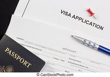 Visa Application - Directly above photograph of an...