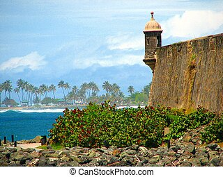 Fort in Puerto Rico - Fort on the ocean