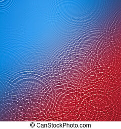 Blue and red circle water ripple background