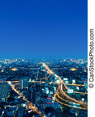 Bangkok city in the night