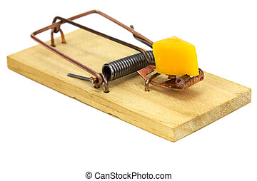 Mouse Trap - Mouse trap isolated on a white background.