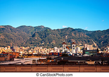 Bogota and the Andes Mountains - A view of Bogota, Colombia...
